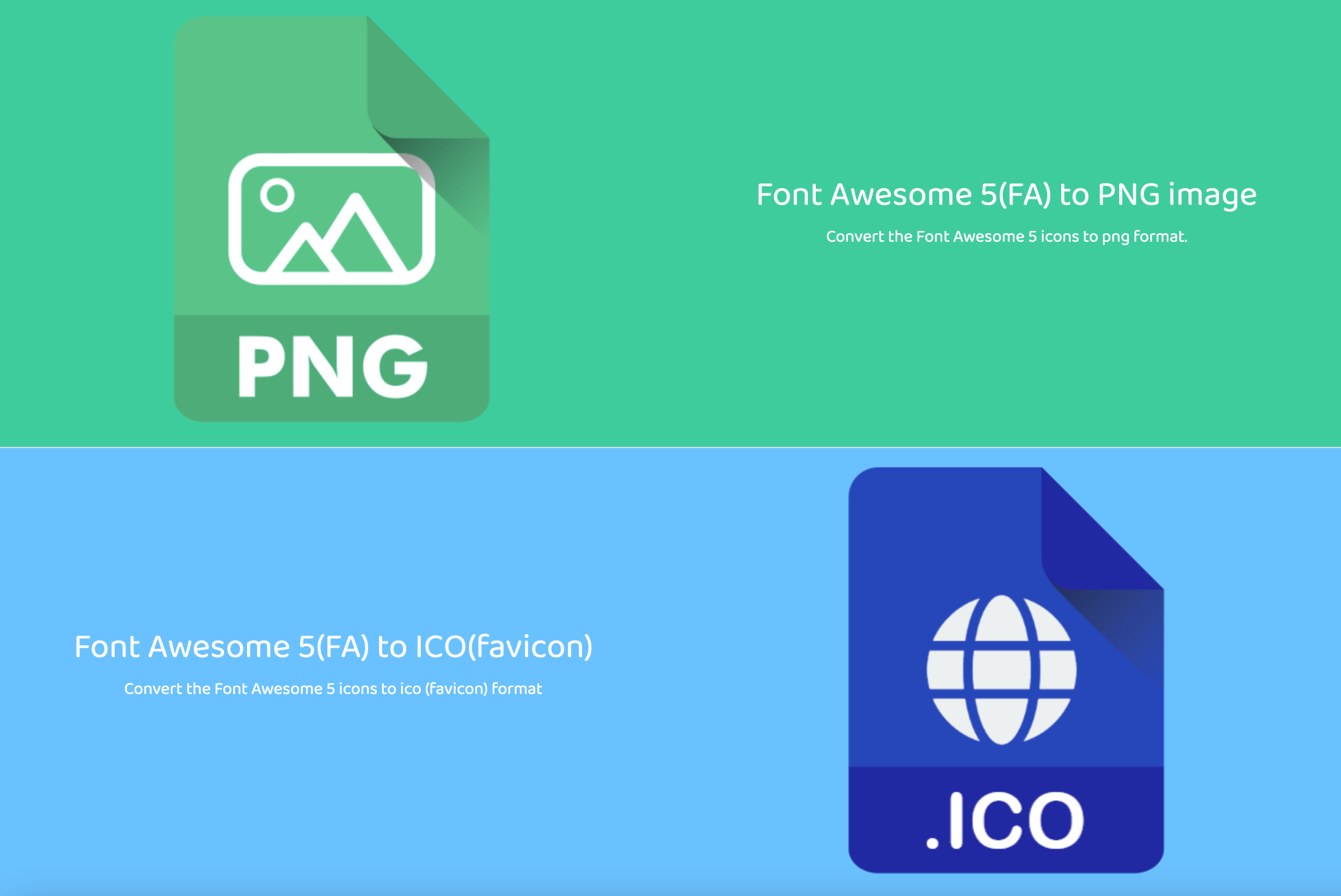 Font Awesome to image converter